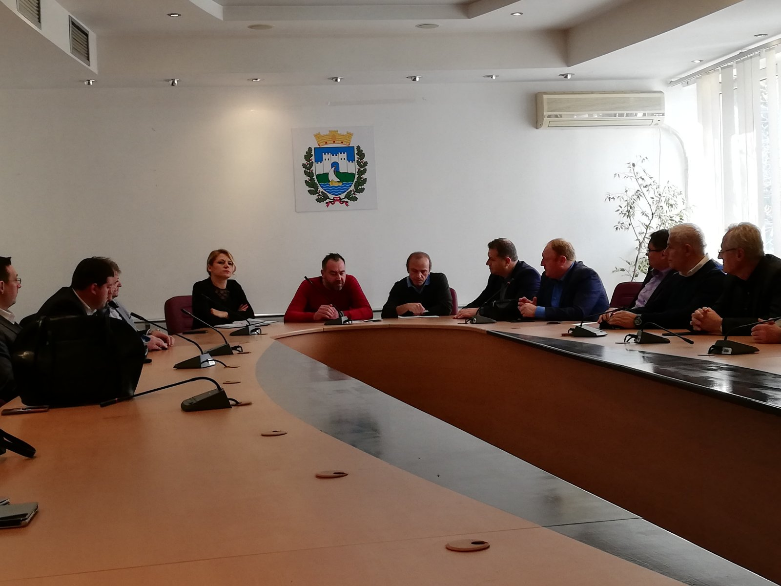 Meeting with the Mayor of the Municipality of Ohrid for cooperation on cross-border projects